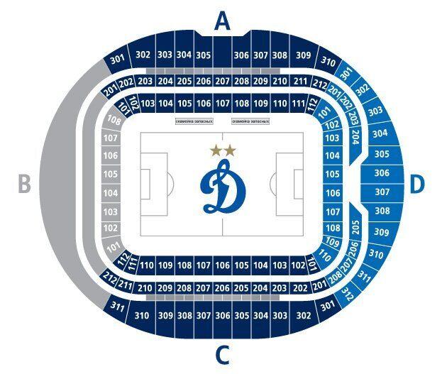 Билеты на футбол ФК Динамо Cтадион ВТБ Арена «Динамо»
