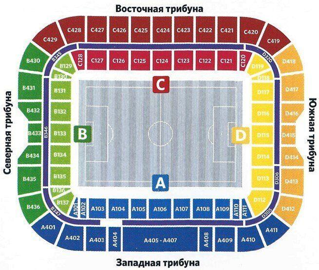 Купить билеты на Олимп-Суперкубок России по футболу 2021. Зенит vs Локомотив 17 июля 2021 года стадион