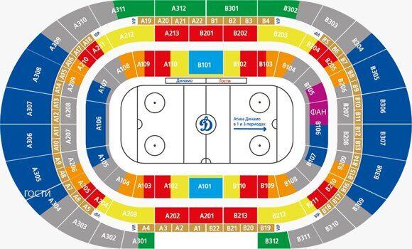 Билеты на хоккей ХК Динамо М  Центральный стадион